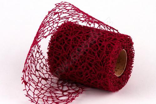 Dekorativní tkanina Big spider 10cm x 4,6m BORDÓ