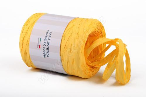 Stuha rafie matná 6802 5mm x 200m - 24 sv. žlutá