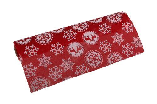 Vianočný polyjutová role 28cm x 3m AJ1604 2-červená