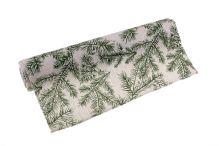 Role látková vianočné s vetvičkou 28cm x 3m AJ1550 12-prírodná / zelená
