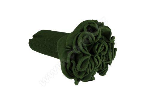 Krepový kornút 25cm x 2,5m 591-listová zeleň
