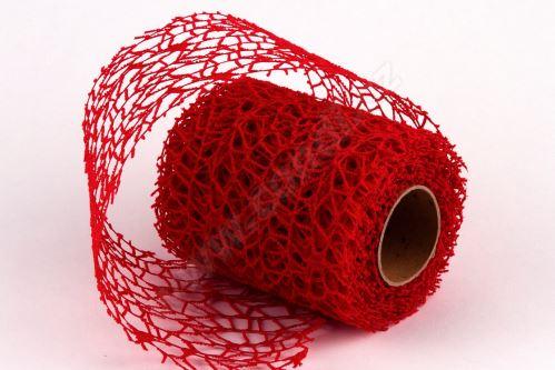 Dekorativní tkanina Big spider 10cm x 4,6m ČERVENÁ