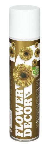 Farba v spreji na živé kvety 400ml FLOWER DECOR - zlatá 10051