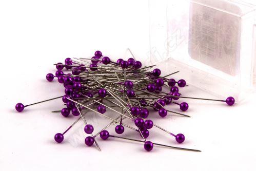 Dekoračné špendlík do klopy 55mm fialový