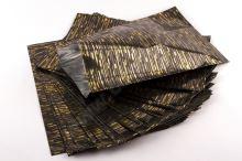 Sáčok polypropylénový metalizovaný s potlačou 25 x 40cm 50ks čierny so zlatou