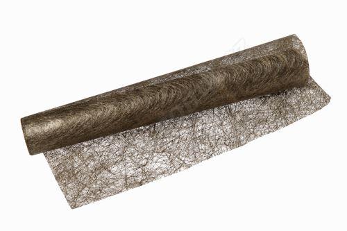 Vánoční metalická tkanina long fiber - metal 30cm x 4,6m bronzová