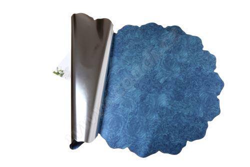 Ronda 50cm metal modrá mramor 1/2 50ks