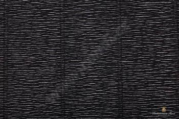 Krepový papír role 50cm x 2,5m - černá 602