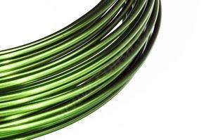 Dekoračné drôt hliníkový - olivovo zelený