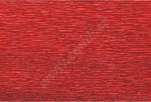 Krepový papier role 50cm x 2,5m - tmavo červený 583