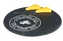 EDCO bridlicové doštička na syr s náčiním 23cm